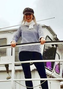 Diana Salewski von der Plauer Fahrgastschifffaht